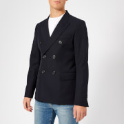 AMI Men's Lined 2 Button Jacket - Navy - EU 46/S - Navy