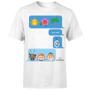 Frozen I Love Heat Emoji T-shirt - Wit
