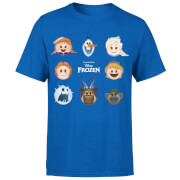 Frozen Emoji Heads Men's T-Shirt - Royal Blue