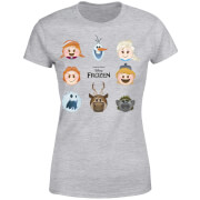 Frozen Emoji Heads Women's T-Shirt - Grey
