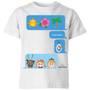 Frozen I Love Heat Emoji Kids' T-Shirt - White