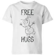 Frozen Olaf Free Hugs Kids' T-Shirt - White