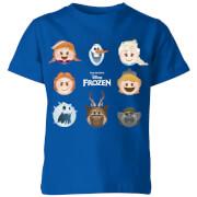 Frozen Emoji Heads Kinder T-shirt - Blauw