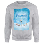 Frozen Snow Poster Sweatshirt - Grey