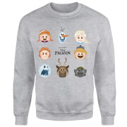 Frozen Emoji Heads Sweatshirt - Grey