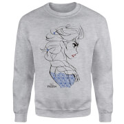 Frozen Elsa Sketch Strong Sweatshirt - Grey