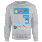 Frozen I Love Heat Emoji Sweatshirt - Grey