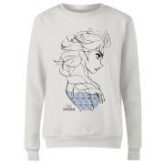 Frozen Elsa Sketch Strong Women's Sweatshirt - White