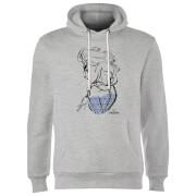 Frozen Elsa Sketch Hoodie - Grey