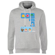 Frozen I Love Heat Emoji Hoodie - Grey
