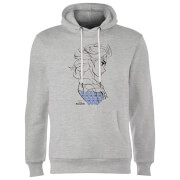Frozen Elsa Sketch Strong Hoodie - Grey