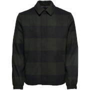 Only & Sons Men's Shawn Wool Jacket - Forest Green