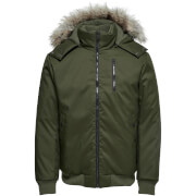 Only & Sons Men's Stanny Padded Bomber Jacket - Forest Green
