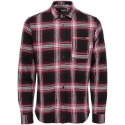 Only & Sons Men's Oconnor Heavy Brushed Check Shirt - Haute Red