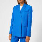 Victoria, Victoria Beckham Women's Fluid Wool Twill Tailored Jacket - Lapis - UK 10 - Blue