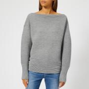 Victoria, Victoria Beckham Women's Ottoman Merino Wool One Shoulder Sweatshirt - Light Grey Mouline - 1/UK 8 - Grey