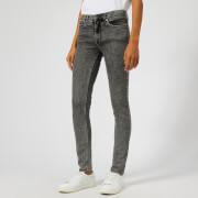 Victoria, Victoria Beckham Women's Mid Rise Skinny Jeans - Black Stone Wash - W26 - Grey