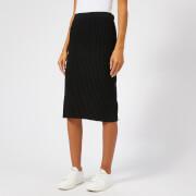 Victoria, Victoria Beckham Women's Ottoman Merino Wool Pull On Skirt - Black - UK 10 - Black