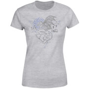 Harry Potter Thestral Line Art Damen T-Shirt - Grau