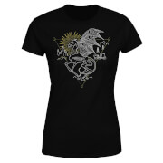 Harry Potter Thestral Line Art Women's T-Shirt - Black