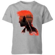 Harry Potter Harry Silhouette Battle Kids' T-Shirt - Grey