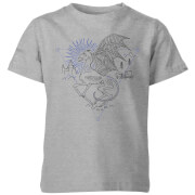 Harry Potter Thestral Line Art Kids' T-Shirt - Grey