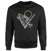 Harry Potter Werewolf Line Art Sweatshirt - Black