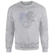 Harry Potter Thestral Line Art Sweatshirt - Grey