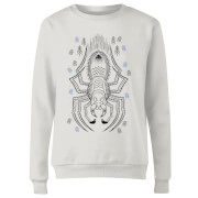 Harry Potter Aragog Line Art Women's Sweatshirt - White
