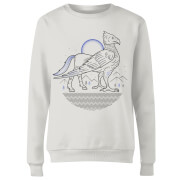Harry Potter Buckbeak Line Art Women's Sweatshirt - White