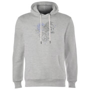 Sweat à Capuche Homme Dessin au Trait Sombral - Harry Potter - Gris