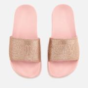Superdry Women's Superdry Pool Slide Sandals - Blush Pink Glitter