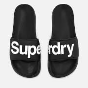 Superdry Men's Pool Slide Sandals - Black/Optic White