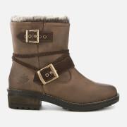 Superdry Women's Hurbis Biker Boots - Chocolate Brown - UK 4 - Brown