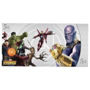 Billete de Colección de Plata Vengadores: Infinity War