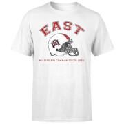East Mississippi Community College Helmet Men's T-Shirt - White