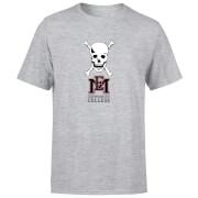 East Mississippi Community College Skull and Logo Men's T-Shirt - Grey