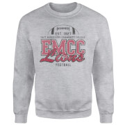 East Mississippi Community College Lions Distressed Sweatshirt - Grey