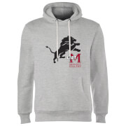 East Mississippi Community College Lion and Logo Hoodie - Grey