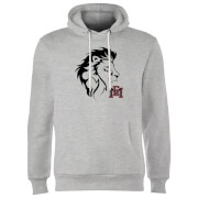East Mississippi Community College Lion Head and Logo Hoodie - Grey