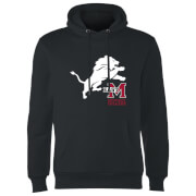 East Mississippi Community College Lion and Logo Hoodie - Black