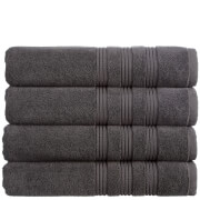 Christy 100% Combed Cotton 4 Piece Towel Bale (675gsm) - Charcoal