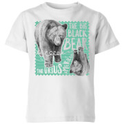 Natural History Museum The Big Black Bear Kids' T-Shirt - White