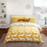 Rapport Sausage Dog Duvet Cover Set - Multi