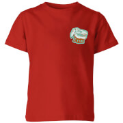 Natural History Museum T-Rex Badge Kids' T-Shirt - Red