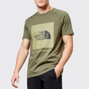 The North Face Men's Short Sleeve Raglan Red Box T-Shirt - New Taupe Green