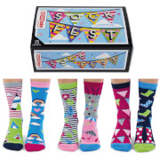 United Oddsocks Women's Sock Fest Socks Gift Set