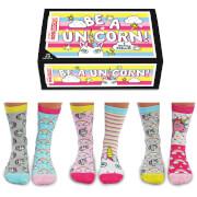 United Oddsocks Women's Be a Unicorn Socks Gift Set