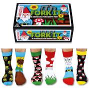 United Oddsocks Mens Fork it Socks Gift Set