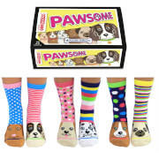 United Oddsocks Women's Pawsome Socks Gift Box